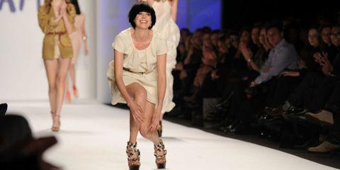 Clothing, Human, Leg, Fashion show, Human body, Human leg, Shoulder, Fashion model, Runway, Joint,