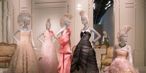 Dress, Gown, Pink, Victorian fashion, Formal wear, Fashion, One-piece garment, hoopskirt, Embellishment, Costume design,