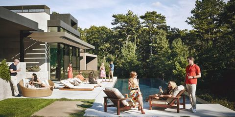 Leisure, Outdoor furniture, Vacation, Shade, Holiday, Sunlounger, Outdoor table, Resort, Bench, Outdoor bench,