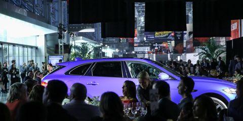 Automotive design, Car, Luxury vehicle, Mid-size car, Auto show, Personal luxury car, Exhibition, Full-size car, Midnight, Sports car,