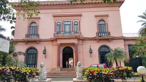 Door, Facade, Building, Stairs, House, Arch, Shrub, Balcony, Garden, Hacienda,