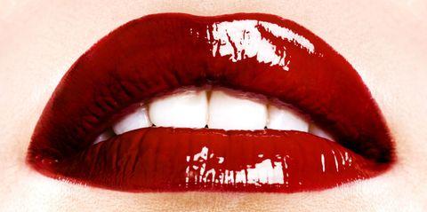 Lip, Mouth, Red, Tooth, Eyelash, Organ, Carmine, Tints and shades, Photography, Close-up,