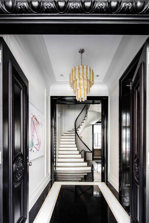 Architecture, Interior design, Property, Floor, Glass, Ceiling, Room, Light fixture, Ceiling fixture, Fixture,