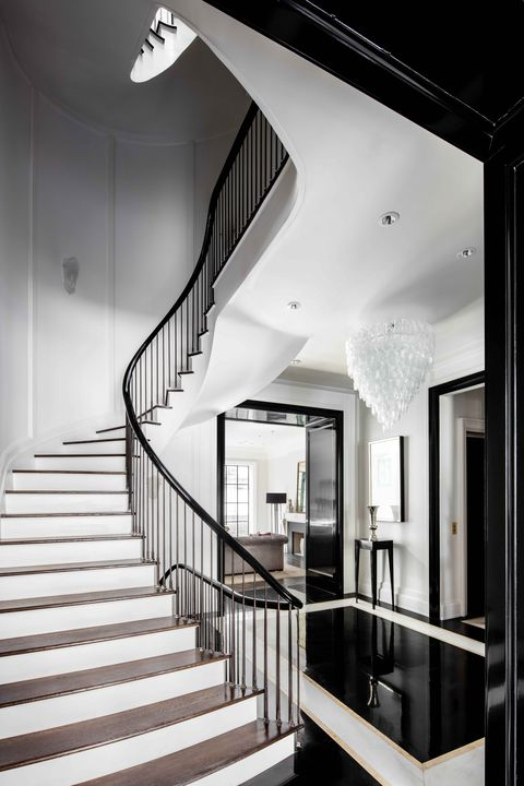Stairs, Architecture, Interior design, Property, Floor, White, Ceiling, Room, Style, Wall,