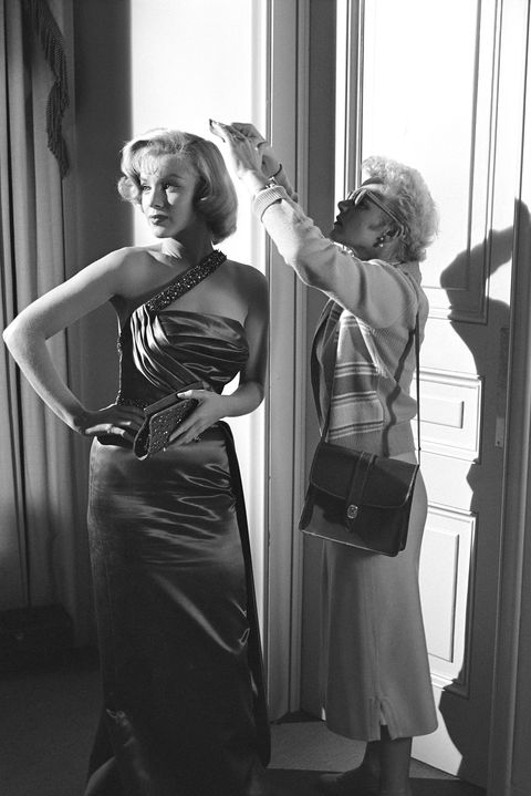 On the set of How To Marry A Millionaire in 1953