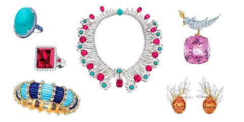 Circle, Bird, Body jewelry, Bracelet, Dishware, Gemstone, Ornament, Craft, Natural material, Creative arts,