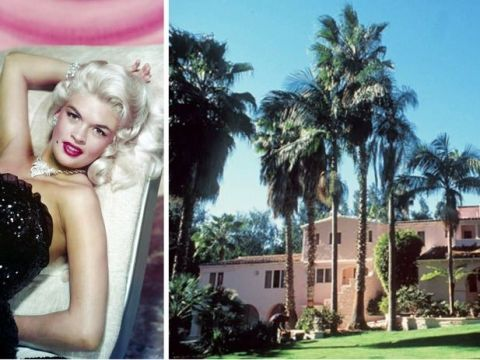 Dress, Arecales, Strapless dress, Model, Blond, Lawn, Day dress, Palm tree, Advertising, Fashion model,