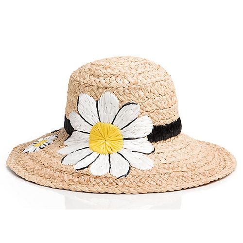 kate spade embroidered daisy sun hat