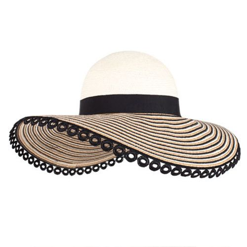 eugenia kim honey wide brim black and straw sun hat