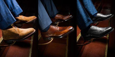 Footwear, Brown, Shoe, Tan, Leather, Fashion, Denim, Dress shoe, Liver, High heels,