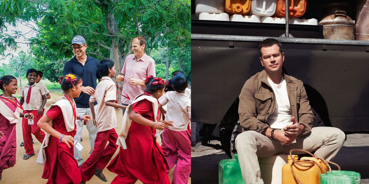 Matt Damon Water.org Interview - Matt Damon on Clean Water Non-Profit - TownandCountrymag.com