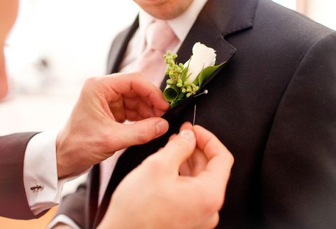 Groomsmen with boutonnière
