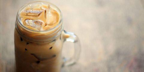 Brown, Drink, Drinkware, Serveware, Beige, Ingredient, Mocaccino, Peach, Lid, Coffee milk,