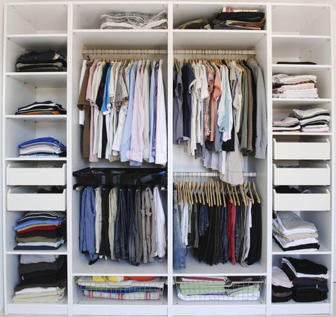 Room, Shelving, Collection, Shelf, Closet, Clothes hanger, Wardrobe, Outlet store,