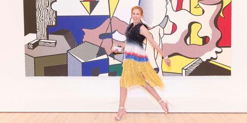 Art, One-piece garment, Illustration, Rectangle, Painting, Visual arts, Graphics, Day dress, Modern art,