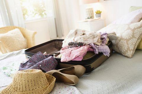 Room, Textile, Interior design, Hat, Pink, Linens, Purple, Costume accessory, Interior design, Home,