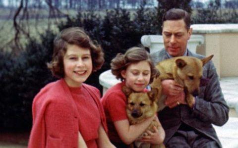 Queen Elizabeth, Princess Margaret, King George VI