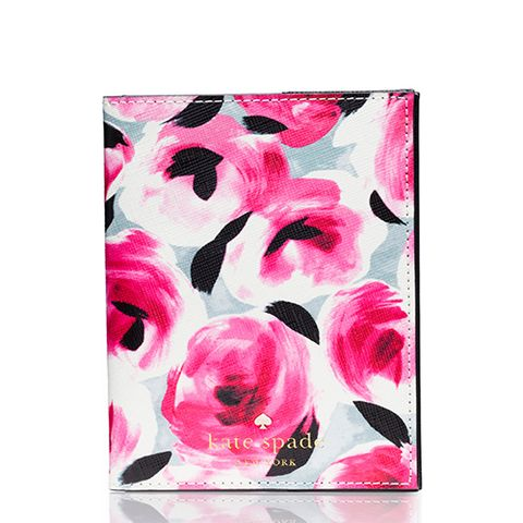 kate spade cedar street rose passport holder