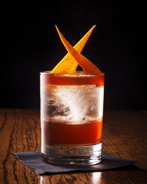 available at pouring ribbons, new york city ingredients 1 oz campari 1 oz smith  cross jamaican rum 1 oz carpano antica sweet vermouth instructions combine all ingredients in a mixing glass and stir briskly until just cold strain into a rocks glass over fresh ice garnish with an orange twist, expressed and inserted