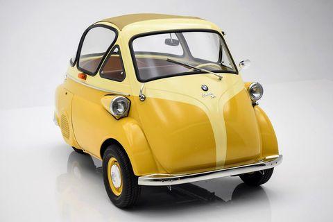 Motor vehicle, Automotive design, Yellow, Vehicle door, Hood, Automotive mirror, Automotive tire, Fender, Bumper, Classic,
