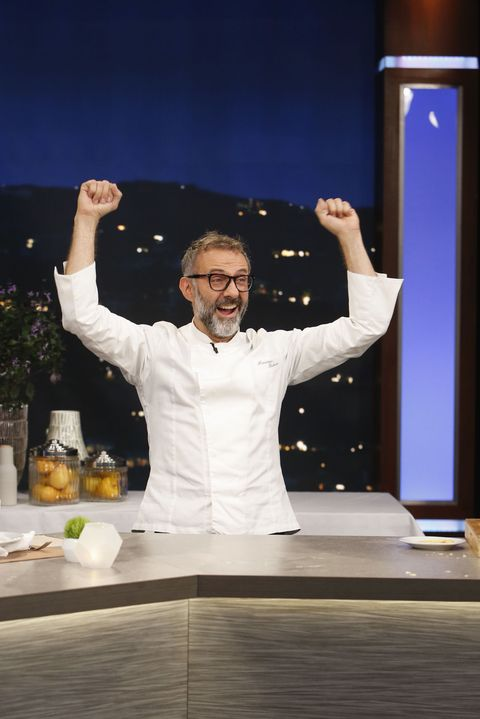 Dress shirt, Chef, Gesture, Cook, Podium, Flowerpot, Houseplant, Lectern,