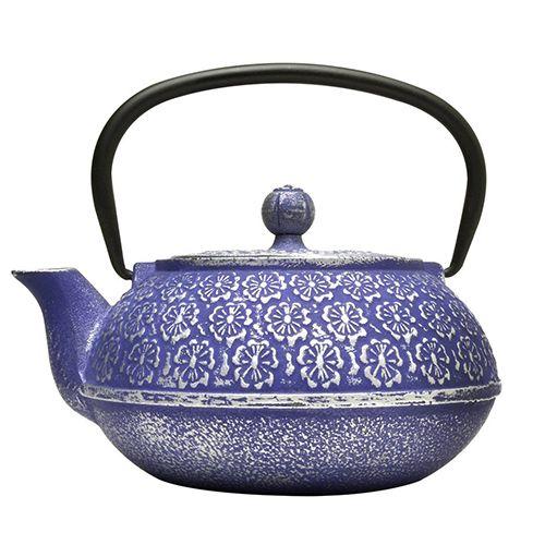 blue steel teapot