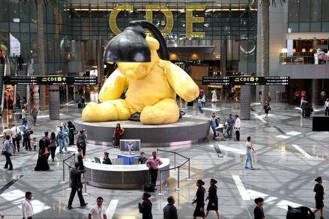 Urs Fischer Sculpture At Doha International Airport