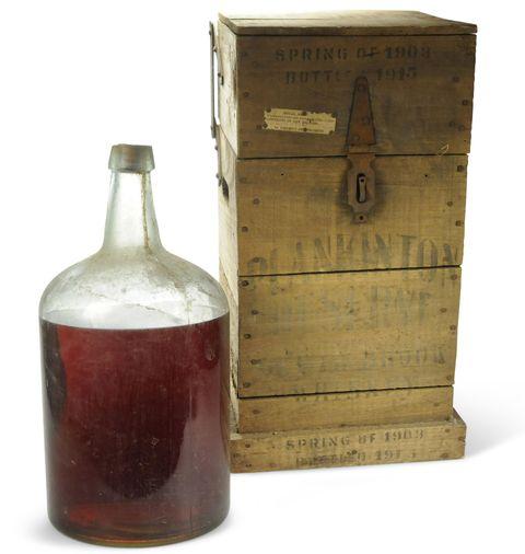 Wood, Bottle, Fluid, Glass, Glass bottle, Liquid, Drinkware, Maroon, Distilled beverage, Barware,