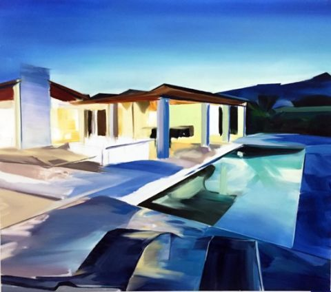 Paint, House, Roof, Home, Airplane, Aircraft, Painting, Art paint, Watercolor paint, Monoplane,