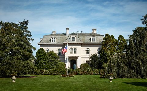 """<p>The house was designed to resemble a French château&#x3B; interior designer Valerian Rybar was responsible for the timeless interiors.</p><p>""""My father didn't tell my mother when he purchased the house. We were driving to Newport and stopped at Howard Johnson's. Daddy looked at me and said, 'Don't say anything, but let me show you what I just bought.' It was a flier for Beaulieu, and it looked like a wreck. My parents were the only young couple in Newport, except for the Drexels. They started bringing ambassadors from Washington and prominent people, and all of a sudden the town really had a life. Today you go to Bailey's Beach and there are so many children. It's gratifying to know that Newport has a long history in front of it. But it's a different history."""" —Dede Wilsey, Ruth Buchanan's daughter </p>"""