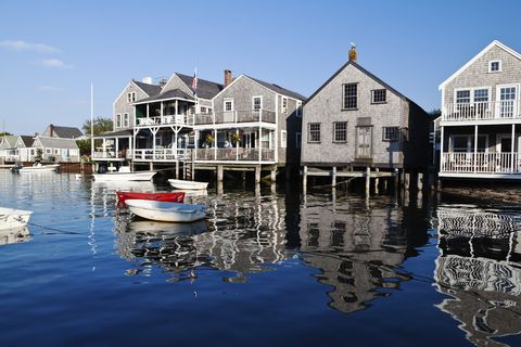 Reflection, Window, Watercraft, House, Waterway, Building, Home, Skiff, Boats and boating--Equipment and supplies, Boat,