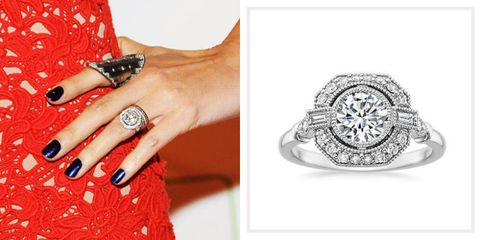 Nicole Ritchie sports one of 31 amazing celebrity engagement rings whose looks you can co-opt for your very own finger.