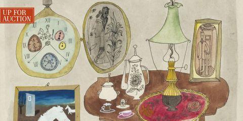 Serveware, Art, Illustration, Barware, Painting, Artwork, Drawing, Circle, Still life photography, Stemware,