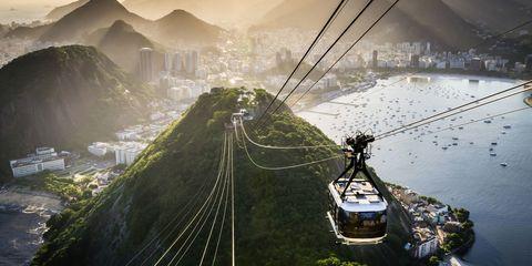 View from Sugar Loaf Mountain in Rio de Janeiro, Brazil