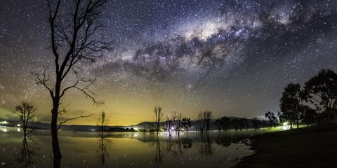 Nature, Night, Natural landscape, Water resources, Reflection, Atmosphere, Astronomical object, Landscape, Star, Astronomy,