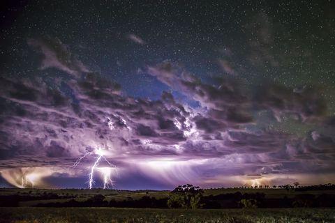 Sky, Atmosphere, Photograph, Night, Purple, Thunderstorm, Storm, Space, Horizon, Thunder,