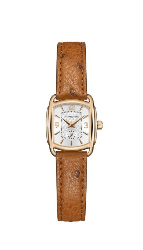 e5013de2668 The 23 mm diameter Bagley from Hamilton updates a classic from 1939 into a  stylish watch for today. The dial features a machine-age inspired quilted  dial ...