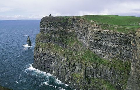 Coastal and oceanic landforms, Coast, Rock, Outcrop, Bedrock, Terrain, Ocean, Promontory, Headland, Klippe,