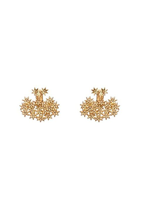 """<p>Your great aunt might be scandalized by these ear jackets; your cousins will think you're cooler than ever. </p><p>$150, <a href=""""http://auratenewyork.com/collections/earrings/products/flower-earring-back-small-ss-plated-in-yellow-gold-au75-b?variant=21675817095"""" target=""""_blank"""">auratenewyork.com</a>.</p>"""