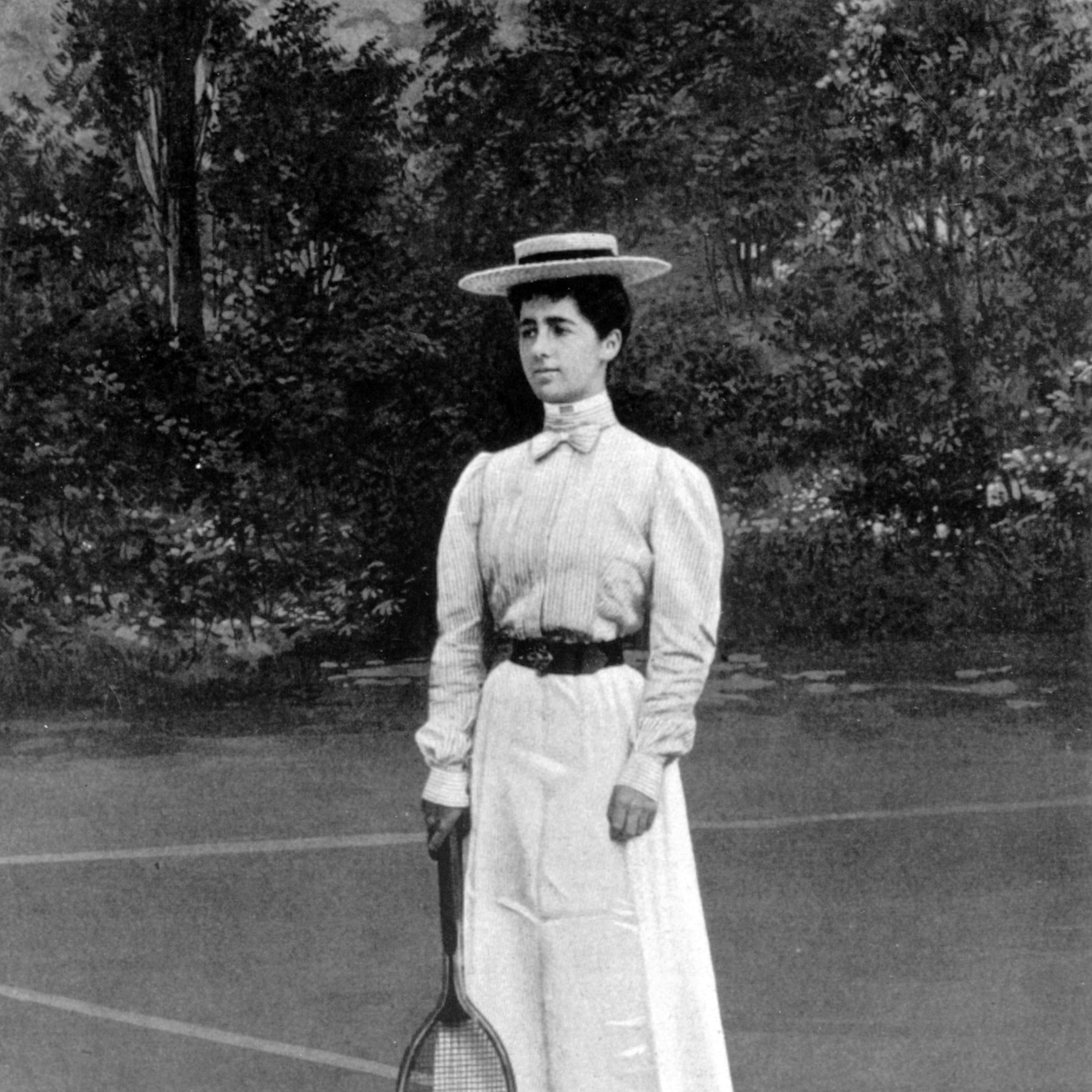 """<p>Helen Provost won the silver medal at the tennis women's singles in Paris, and in a full-length skirt, no less. Females taking part <a href=""""http://visforvintage.net/2012/08/03/olympics-sportswear-a-complete-history/"""" target=""""_blank"""">had no choice</a> but to play in ankle-length dresses with the long sleeves and high necks of the time period, plus shoes with a heel. </p>"""