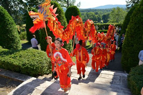 Shrub, Temple, Tradition, Chinese new year, Garden, Hedge, Costume, Holiday, Ritual, Dance,