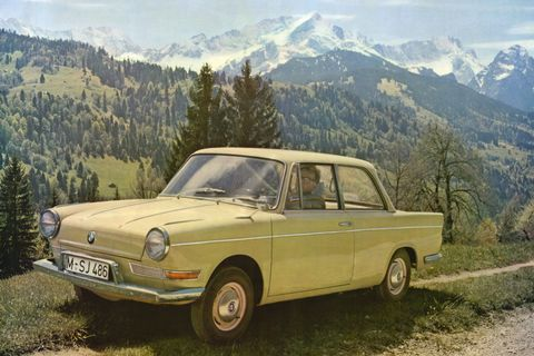 <p>Cheap and cheerful, the tiny little BMW 700 saved the company from bankruptcy, or worse, a merger with Daimler—doing so all without a kidney grille up front. With a motorcycle-derived flat-twin, mounted in the back of BMW's first monocoque body. With those credentials, the 700 was a tiny terror at hillclimbs and the Nurburgring alike. And unlike the Italianate Isetta, the 700 was all BMW. </p>