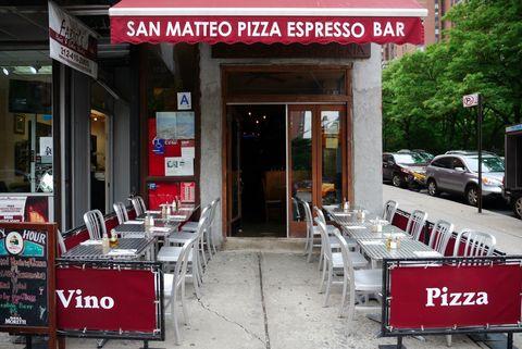 Restaurant, Signage, Truck, Door, Sign, Awning, Fast food restaurant, Sidewalk, Coffeehouse, Parking,
