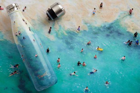 Aqua, Turquoise, Teal, Paint, Art, Art paint, Painting, Visual arts, Illustration, Water transportation,