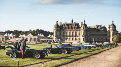 Since 2014 the château de chantilly in france has hosted a concurs delegance a parade of vintage cars that win awards based on rarity and condition