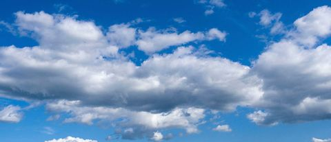 Nature, Blue, Sky, Daytime, Cloud, Atmosphere, Cumulus, Colorfulness, Photograph, Electric blue,