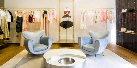 Room, Floor, Interior design, Flooring, Clothes hanger, Interior design, Shelving, Closet, Design, Living room,