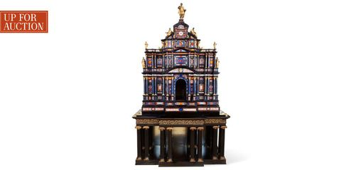 Holy places, Place of worship, Temple, Brass, Bronze, Shrine, Classical architecture, Finial, Symmetry, Carving,
