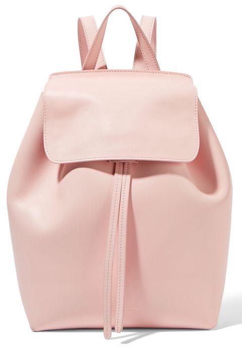 "<p><strong>Mansur Gavriel</strong> backpack, $795, <a href=""https://www.net-a-porter.com/us/en/product/688807/mansur_gavriel/mini-leather-backpack"" target=""_blank"">netaporter.com</a>. </p>"