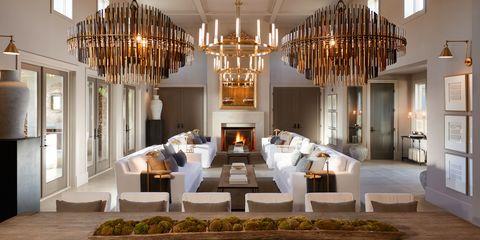 Interior design, Architecture, Light fixture, Room, Ceiling, Interior design, Hall, Chandelier, Ceiling fixture, Molding,